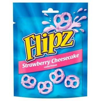 Flipz Strawberry Cheesecake Coated Pretzels 90G