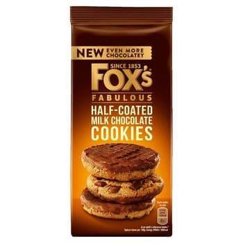 Fox's Half Coated Milk Chocolate Cookies 175G