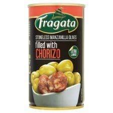 Fragata Chorizo Stuffed Green Olives 350G