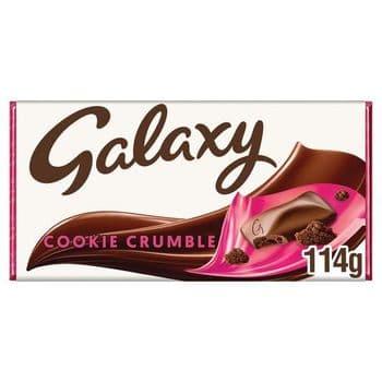 Galaxy Cookie Crumble Chocolate Bar 114G