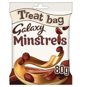 Galaxy Minstrels Chocolate Treat Bag 80G