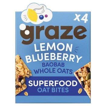 Graze Lemon & Blueberry Super Bites 4X30g