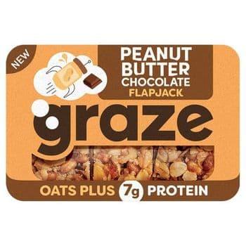 Graze Peanut Butter Chocolate Flapjack 50G