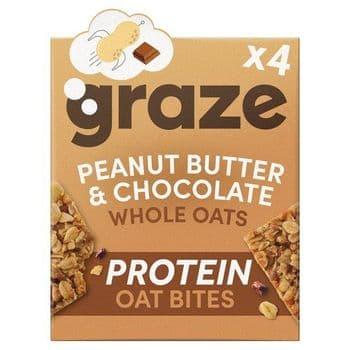 Graze Peanut Butter & Chocolate Protein Bites 4 X 30G