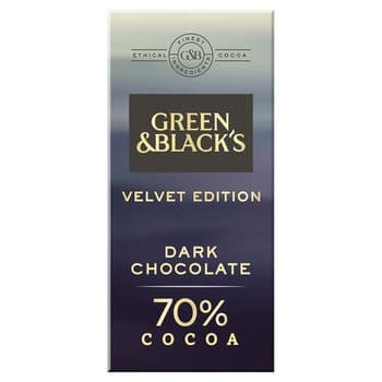 Green & Black's Dark Chocolate 70% 90G