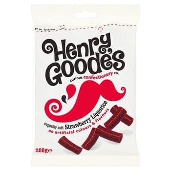 H. Goode's Soft Strawberry Flavour Liquorice 200G