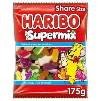 Haribo Supermix Fruit Milk & Sweet Foam Gums 175G