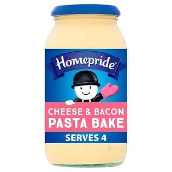 Homepride Pasta Bake Cheese & Bacon 485G