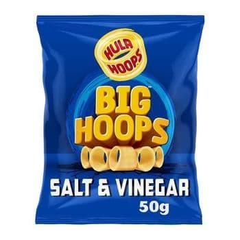 Hula Hoops Big Hoops Salt & Vinegar Potato Rings 50G