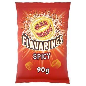 Hula Hoops Flavarings Spicy Crisps 90G