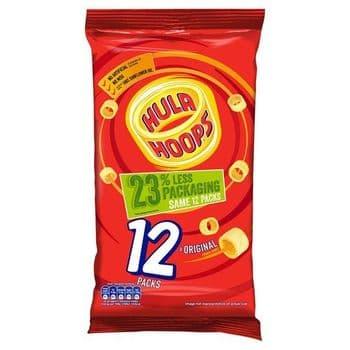 Hula Hoops Original Crisps Mutlipack 12X24g
