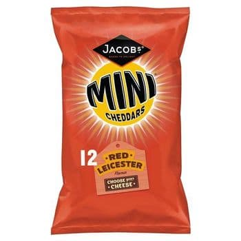 Jacobs Mini Cheddars Red Leicester 12X25g