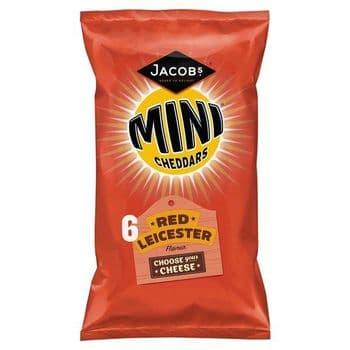 Jacobs Mini Cheddars Red Leicester 6X25g