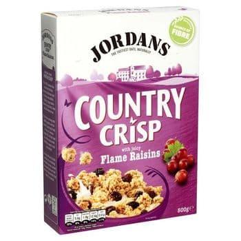 Jordans Country Crisp With Lux. Raisins 500G