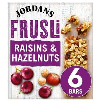 Jordans Frusli Bar Raisin & Hazelnut 6X30g