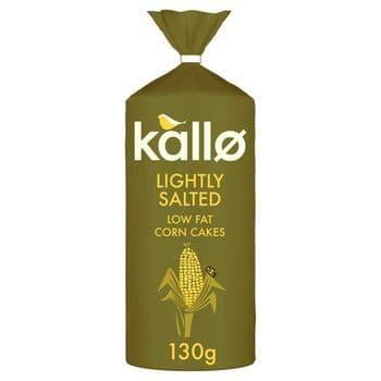 Kallo Lightly Salted Wholegrain Low Fat Corn Cake 130G