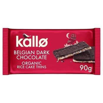 Kallo Organic Dark Chocolate Ricecakes 90G