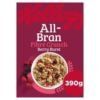 Kellogg's All Bran Fibre Crunch Berry Burst 390G