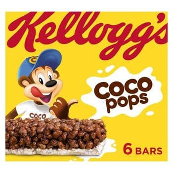 Kellogg's Coco Pops Cereal Bar 6 X 20G