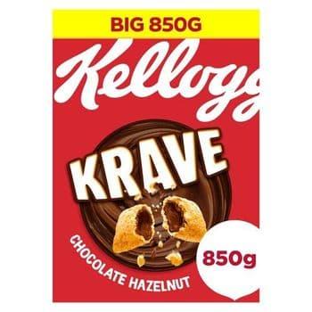 Kellogg's Krave Chocolate & Hazelnut Cereal 850G