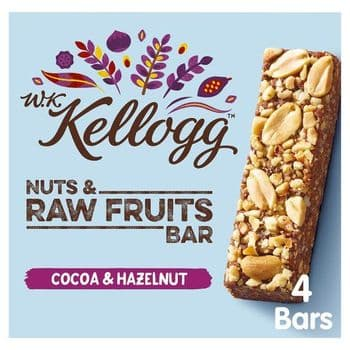 Kellogg's Wkk Cocoa & Hazelnut Bar 3X40g