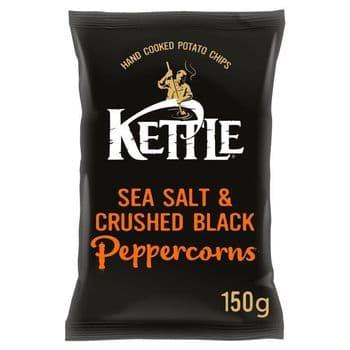 Kettle Chips Sea Salt & Black Pepper Corns 150G