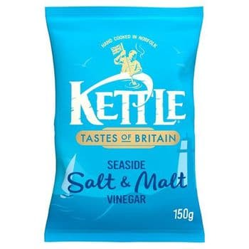 Kettle Chips Seaside Salt & Malt Vinegar 150G