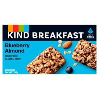 Kind Breakfast Blueberry & Almond Bars 3X2pk 150G