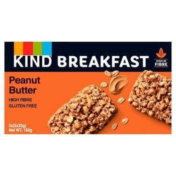 Kind Breakfast Peanut Butter Gluten Free Bars 3X2 Pack 150G