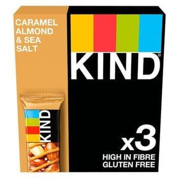 Kind Caramel Almond & Sea Salt Bar 3 X 40G