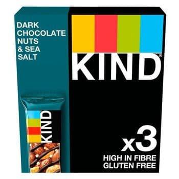 Kind Dark Chocolate Nuts & Sea Salt Bar 3X40g
