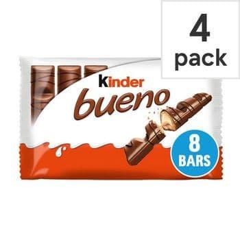 Kinder Bueno Milk & Hazelnut 4 Pack 172G