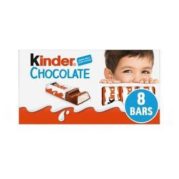 Kinder Chocolate 8 Pack 100G