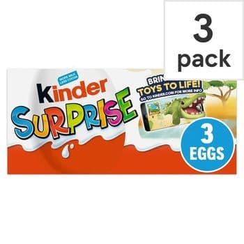 Kinder Surprise Egg 3 X 20G