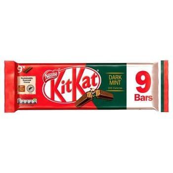 Kit Kat 2 Finger Dark Mint Biscuits 9 Pack 186.3G
