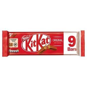 Kit Kat 2 Finger Milk Chocolate Biscuits 9 Pack 186.3G