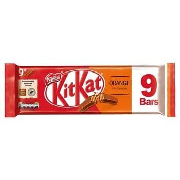 Kit Kat 2 Finger Orange Chocolate Biscuit 9 Pack 186.3G