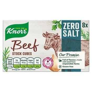 Knorr 8 Zero Salt Beef Stock Cubes 72G