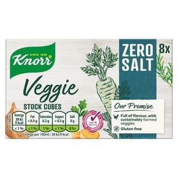 Knorr 8 Zero Salt Veggie Stock Cubes 72G