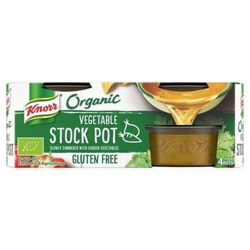 Knorr Organic Vegetable Stock Pot 4X26g