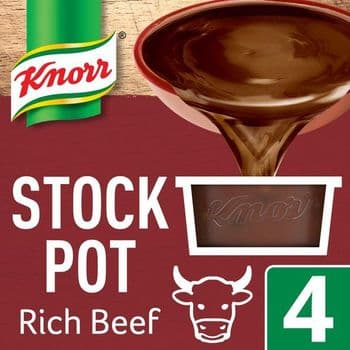 Knorr Rich Beef Stock Pot 4 X 28G