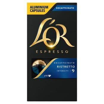 L'or. Capsule Ristretto Decaffeinated Coffee 52G