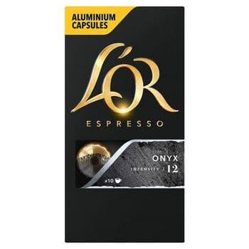L'or. Espresso Onyx Ground Coffee 10 Capsules 52G