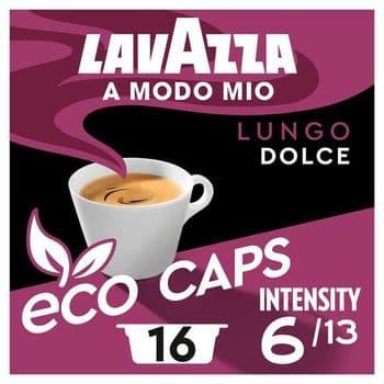 Lavazza A Modo Mio Lungo Dolce Coffee 16 Capsules