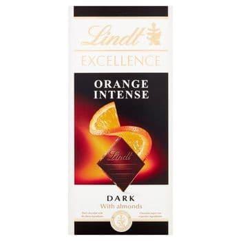Lindt Excellence Dark Orange Intense Chocolate Bar 100G
