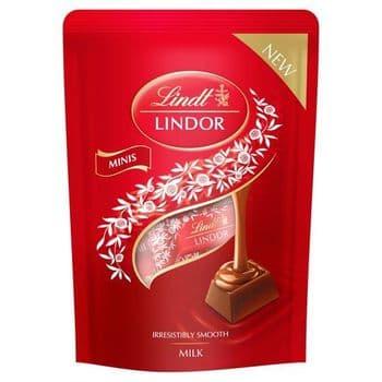 Lindt Lindor Milk Mini Chocolate Pouch 90G