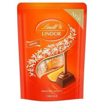 Lindt Lindor Mini Chocolate Orange 90G
