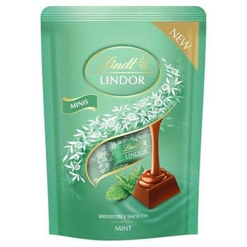 Lindt Lindor Mini Mint Chocolate Pouch 90G