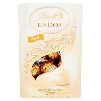 Lindt Lindor White Chocolate Truffles Carton 200G
