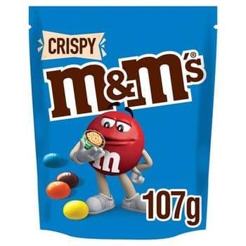 M&M's Crispy Chocolate Pouch 107G
